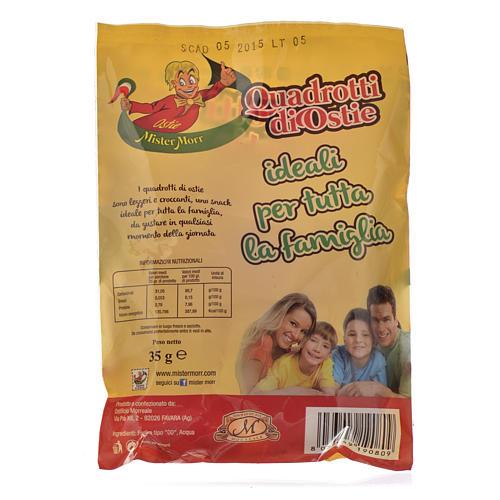 Cuadraditos de hostias ligeras y crocantes Morreale 2