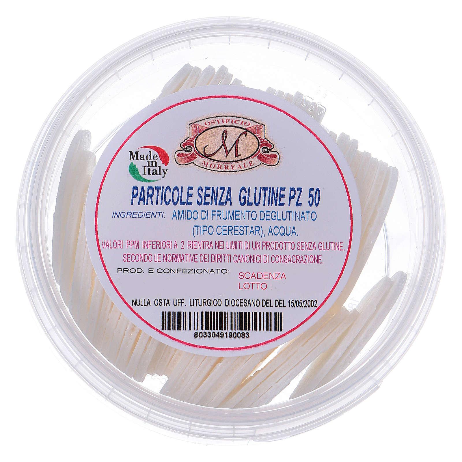 Formas para consagrar bajo contenido de gluten tarro de plástico 50 unidades - 3,5 cm 3