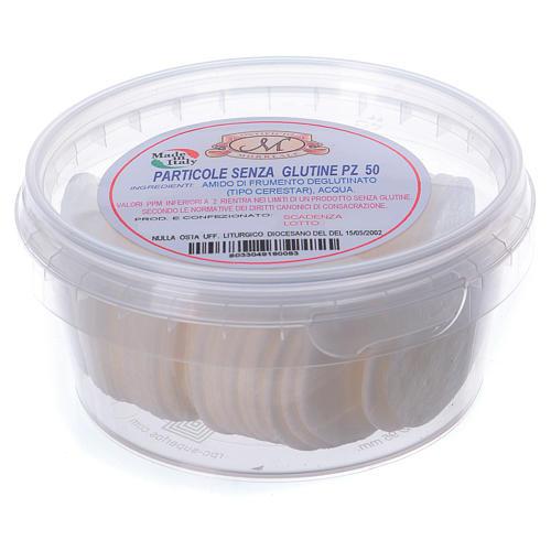 Formas para consagrar bajo contenido de gluten tarro de plástico 50 unidades - 3,5 cm 2