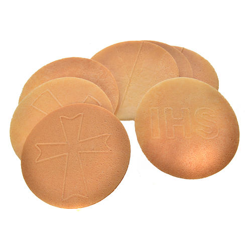 Bread hosts 7.4cm diameter 3mm thick (25 pieces) 3