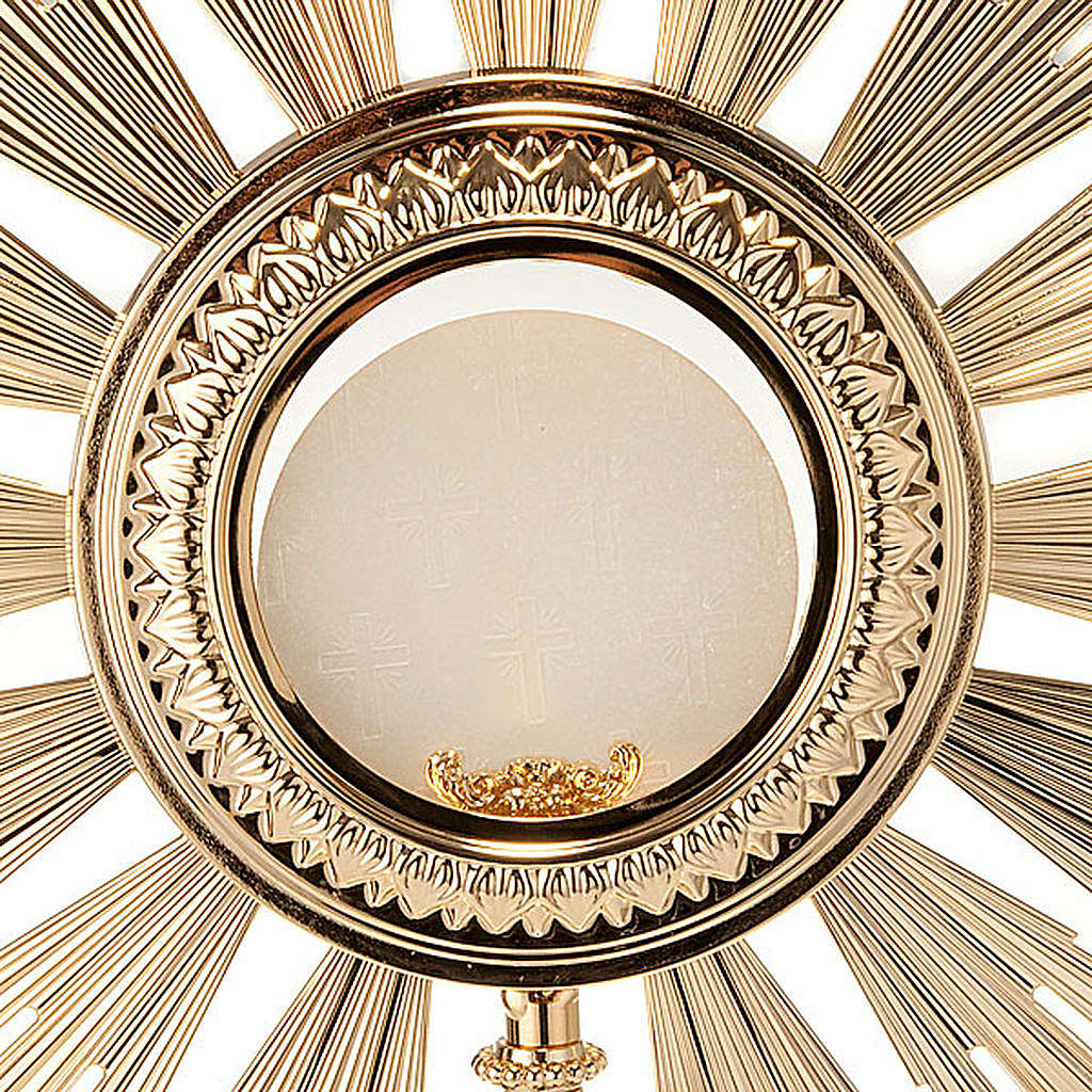Ostensoir baroque en bronze doré 4