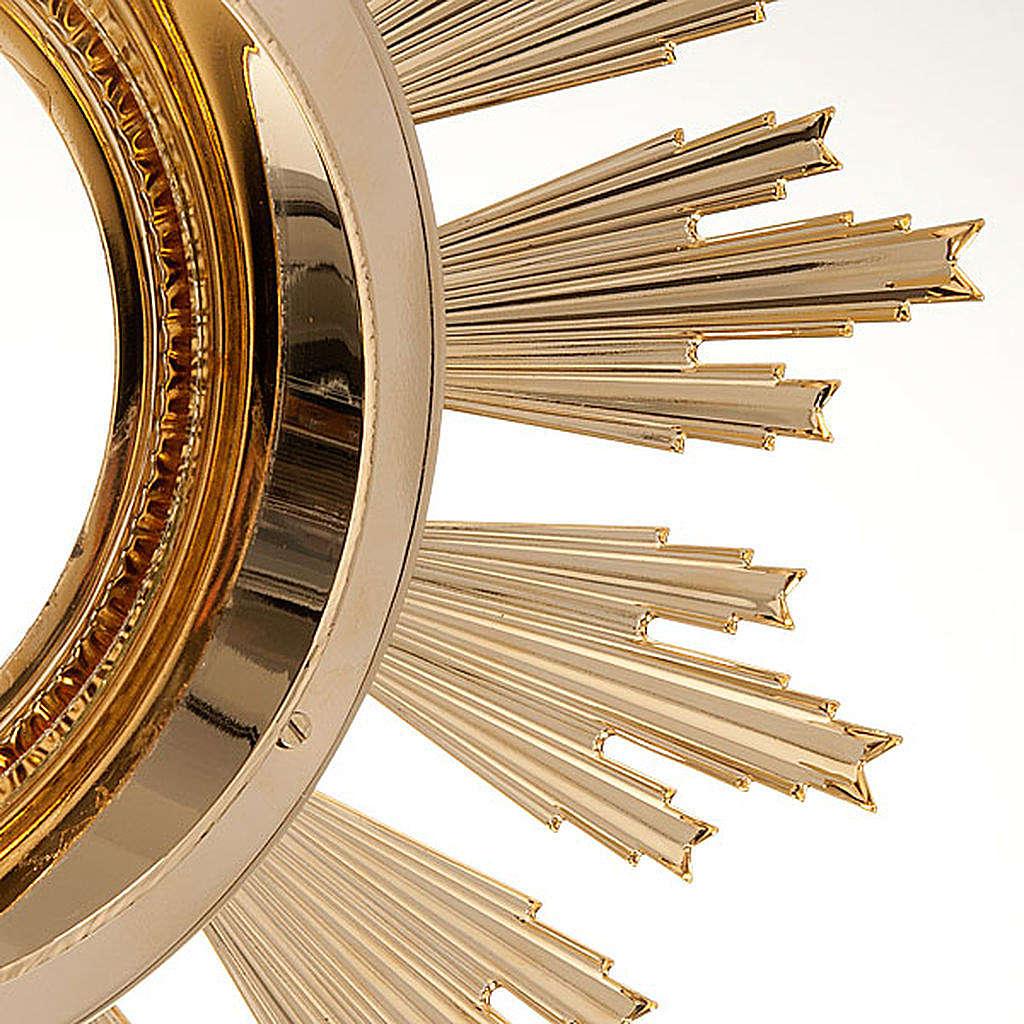 Ostensorio barocco bronzo dorato 4