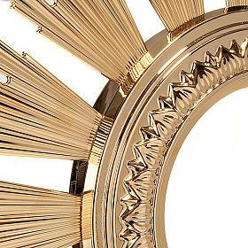 Ostensorio barocco bronzo dorato s3
