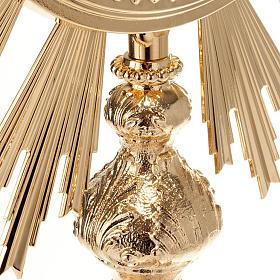 Ostensorio barocco bronzo dorato s8