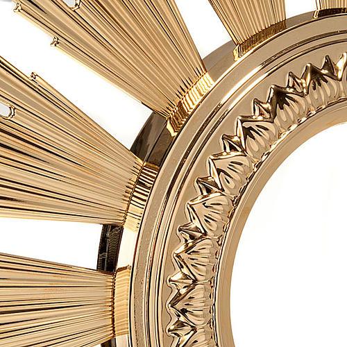 Ostensorio barocco bronzo dorato 3