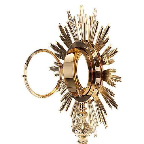 Ostensorio barocco bronzo dorato 5
