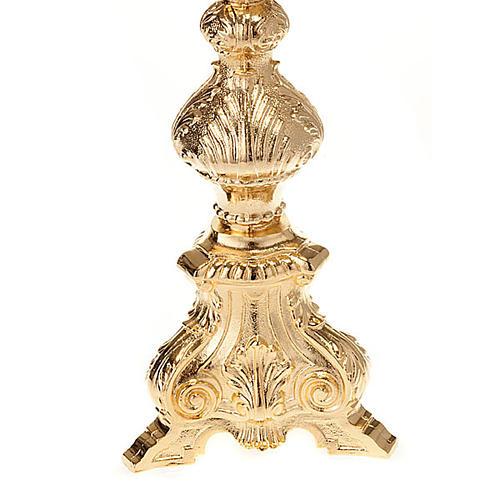 Ostensorio barocco bronzo dorato 7