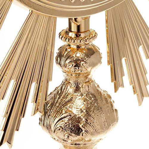 Ostensorio barocco bronzo dorato 8