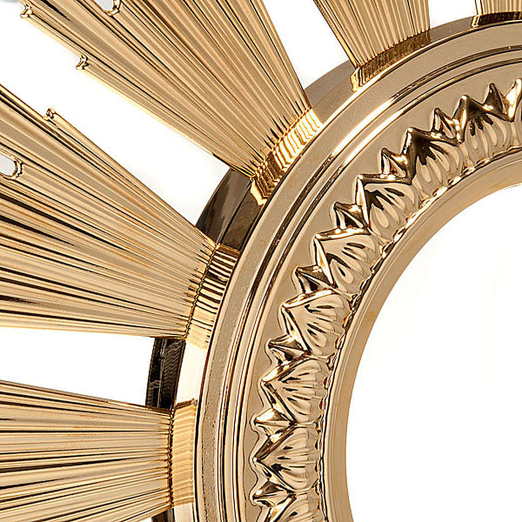 Baroque Monstrance in gold-plated bronze 4