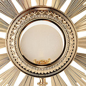 Baroque Monstrance in gold-plated bronze s4