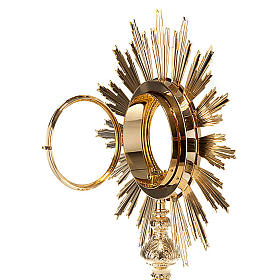Baroque Monstrance in gold-plated bronze s5