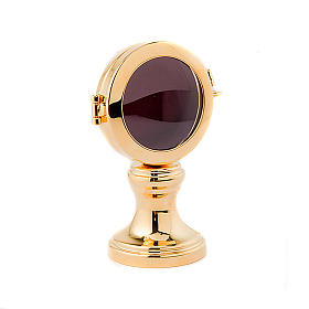Reliquary in golden plated brass s1