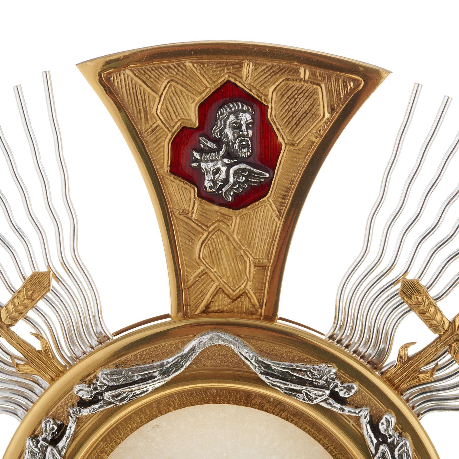 Custodia con corona de rayos y cruces 4