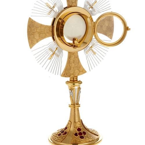 Custodia con corona de rayos y cruces 6