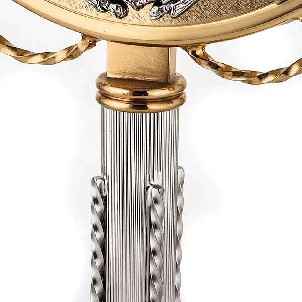 Ostensoir doré avec décors en argent 4
