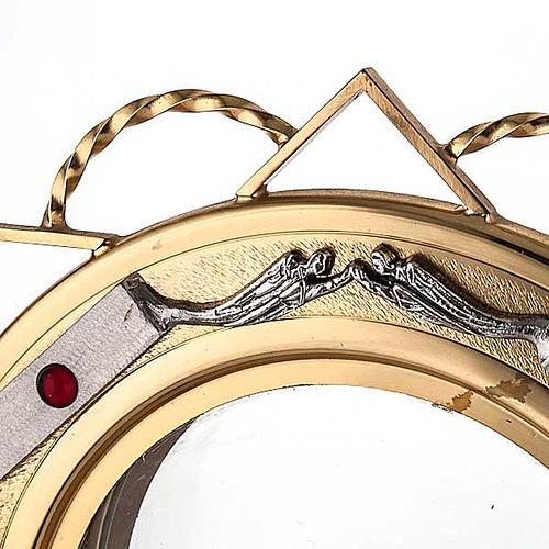 Ostensoir doré avec décors en argent 3