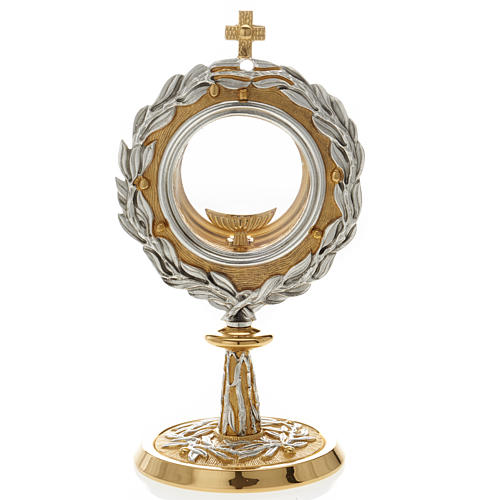 Monstrance with bay leaves 1