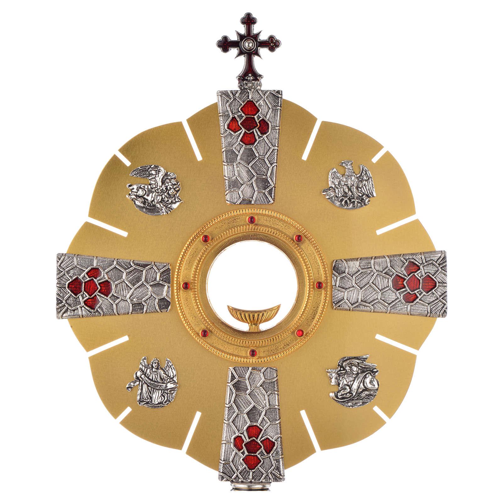 Ostensorio símbolos evangelistas 4