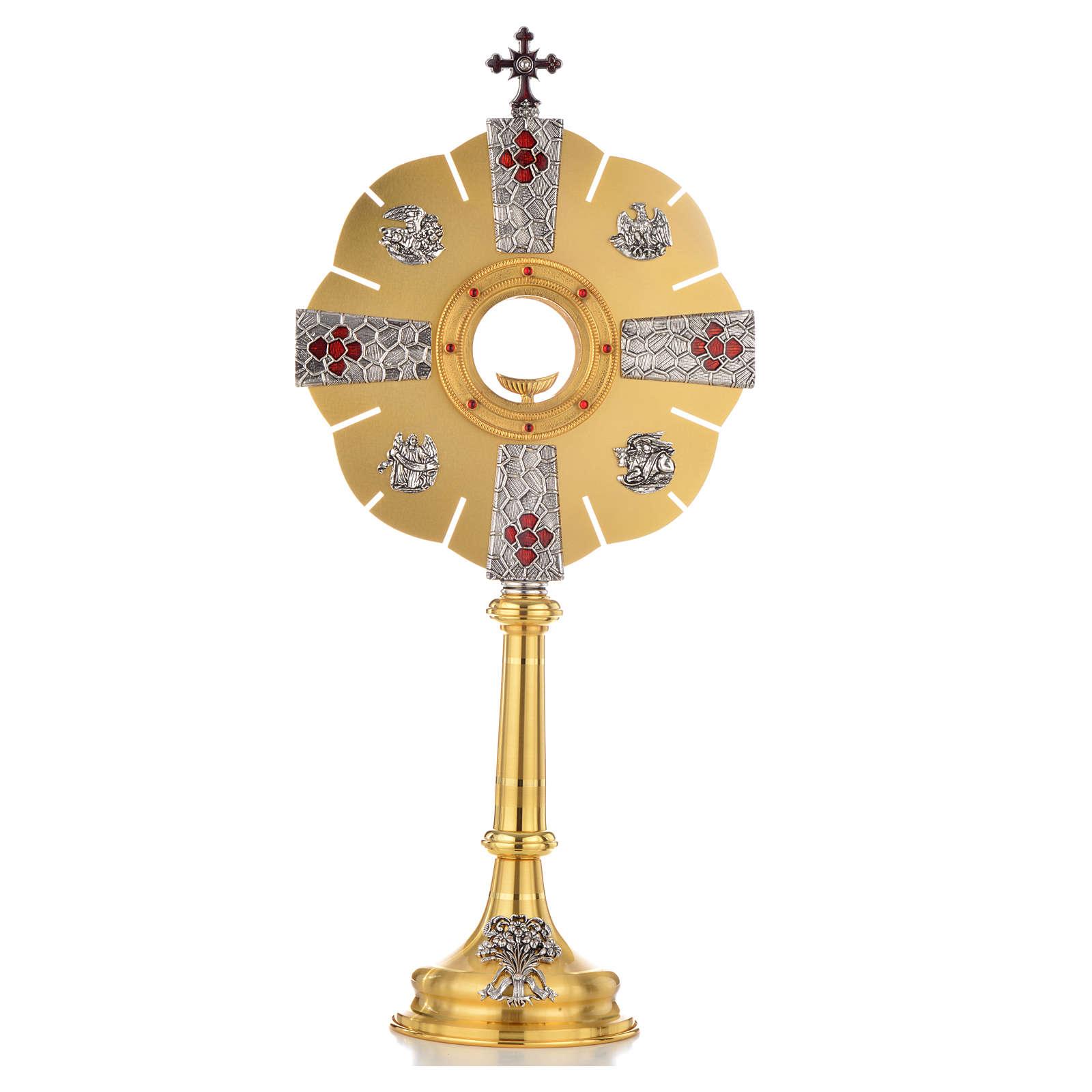Ostensoir symboles évangiles 4