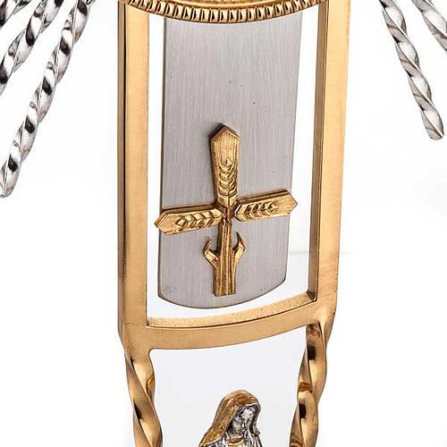 Ostensorio cruz y Virgen 3