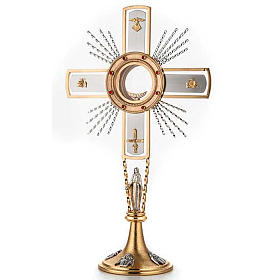 Monstrance, cross and Mary s1