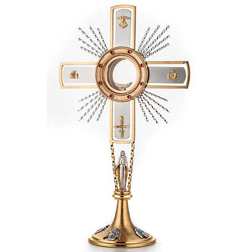 Monstrance, cross and Mary 1