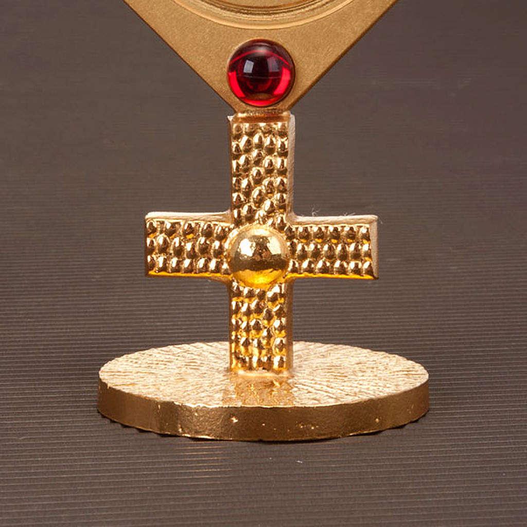 Reliquiario con pietre rosse 4