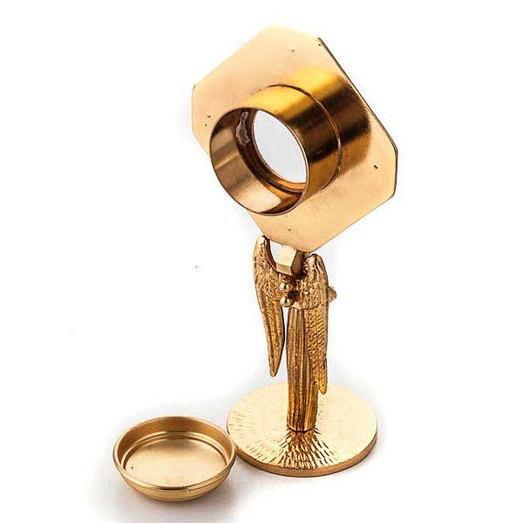 Relicario dorado con ángel 4