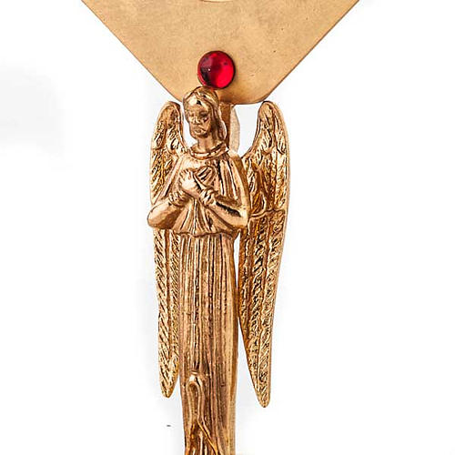 Reliquiario dorato con angelo 5