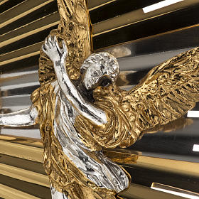 Ostensoir hostie, célébration, décor anges s8