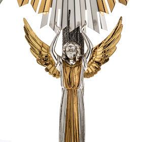 Ostensorio ostia concelebrazione decorato con angeli s2