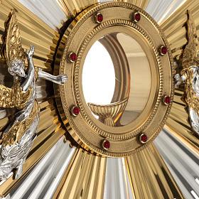 Ostensorio ostia concelebrazione decorato con angeli s3