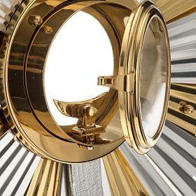 Ostensorio ostia concelebrazione decorato con angeli s7