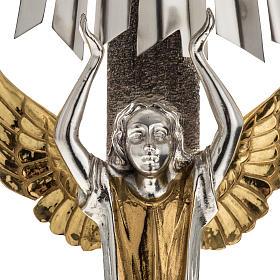 Ostensorio ostia concelebrazione decorato con angeli s9