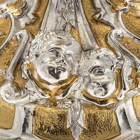 Ostensorio ostia concelebrazione decorato con angeli s11