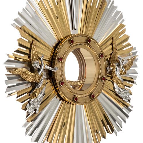 Ostensorio ostia concelebrazione decorato con angeli 4