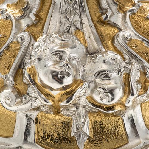 Ostensorio ostia concelebrazione decorato con angeli 11