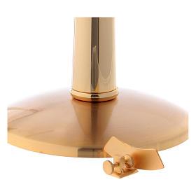 Ostensorio ottone espositore in vetro raggiera s5