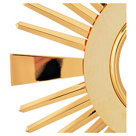 Monstrance hammered gold-plated brass s12