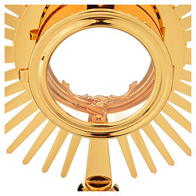 Monstrance hammered gold-plated brass s14