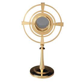 Ostensorio latón dorado con círculos s1