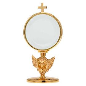 Ostensorio teca ottone angelo diam cm 8,5 s1