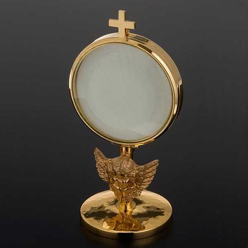Ostensorio teca ottone angelo diam cm 8,5 5