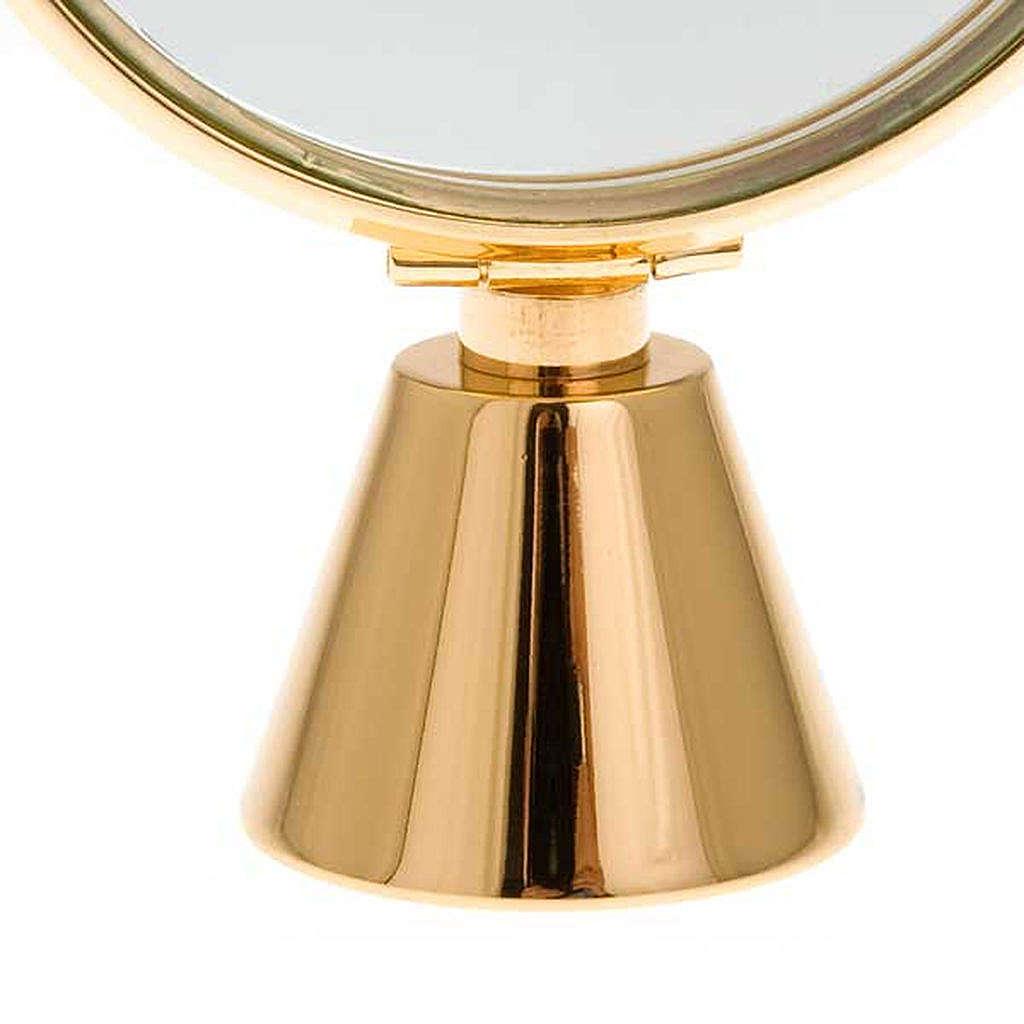 Ostensorio teca ottone semplice diam cm 8,5 4