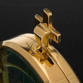 Ostensorio teca ottone semplice diam cm 8,5 s4