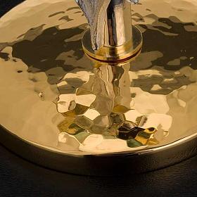 Ostensorio  teca de latón con lirios diámetro 8,5 s4
