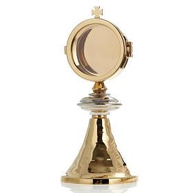 Ostensori, Teche, Reliquiari metallo: Mini ostensorio teca 5,5 cm