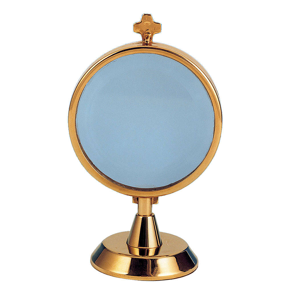 Ostensorio teca argento 925 bagno oro 4