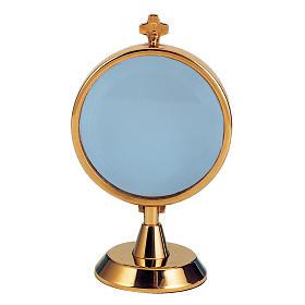 Ostensorio teca argento 800 bagno oro s1