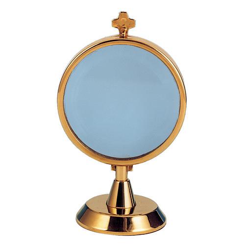 Ostensorio teca argento 925 bagno oro 1